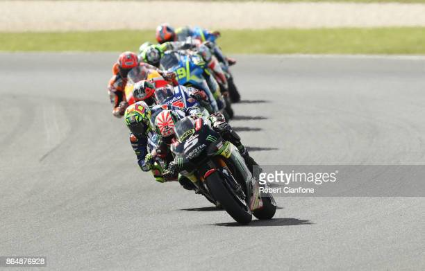 Johann Zarco of France rides the MONSTER YAMAHA TECH 3 Yamaha during the 2017 MotoGP of Australia at Phillip Island Grand Prix Circuit on October 22...
