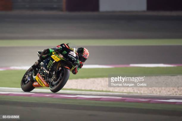 Johann Zarco of France who rides Yamaha for Monster Energy Yamaha Tech 3 during the final MotoGP winter test at Losail International Circuit on March...