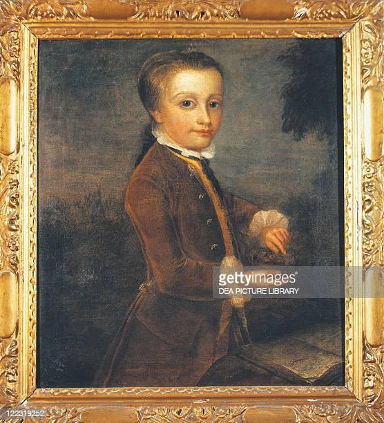 Johann Zoffany Portrait of Wolfgang Amadeus Mozart Austrian composer at age 8