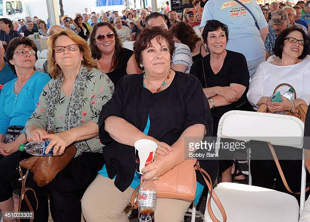 Johanna Antonacci and Leta Gandolfini attends SiriusXM's Cousin Brucie's Second Annual Palisades Park Reunion at State Fair Meadowlands on June 21...