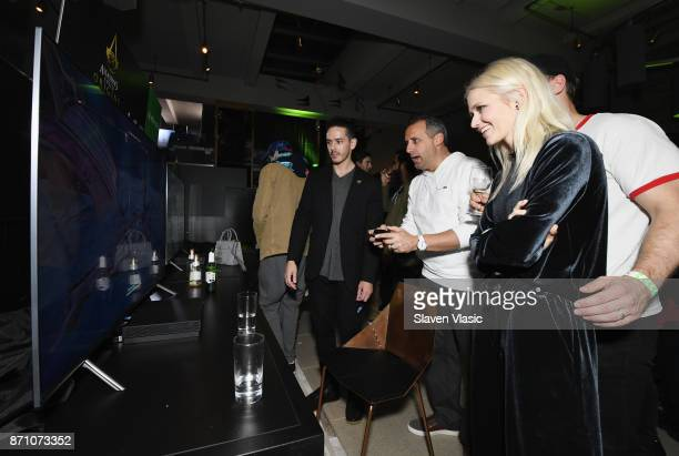 Johanna Braddy attends as Liam Payne Chloe Grace Moretz Brooklyn Beckham and Caleb McLaughlin Host Xbox One x VIP Event Xbox Live Session on November...