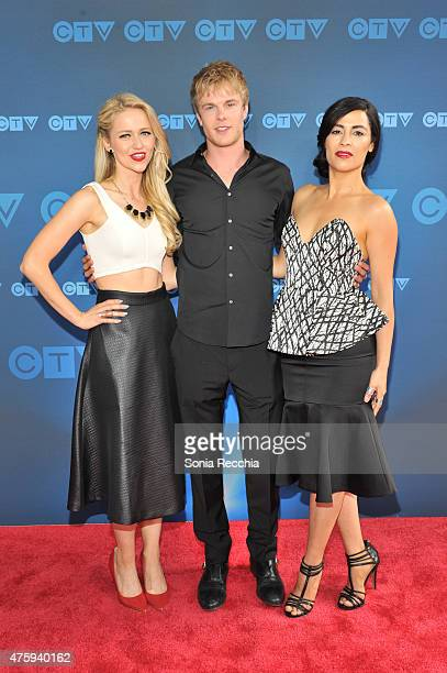 Johanna Braddy Graham Rogers and Yasmine Al Massri attend CTV Upfront 2015 Presentation at Sony Centre For Performing Arts on June 4 2015 in Toronto...