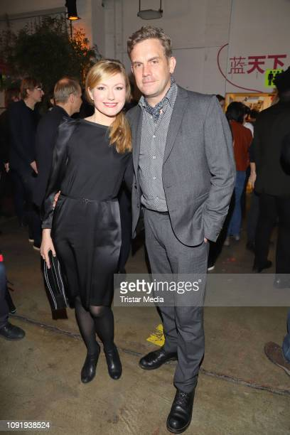 Johanna Christine Gehlen and her husband Sebastian Bezzel during the Film Funding Hamburg Warm Up Party on January 30 2019 in Hamburg Germany