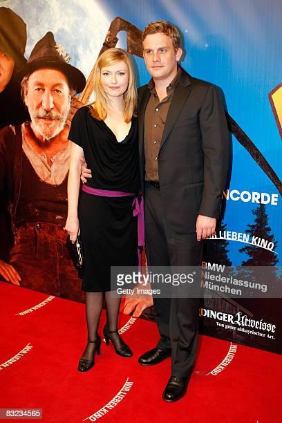 Johanna Christine Gehlen and Sebastian Bezzel attend the German premiere of 'Brandner Kaspar' on October 11 2008 in Munich Germany