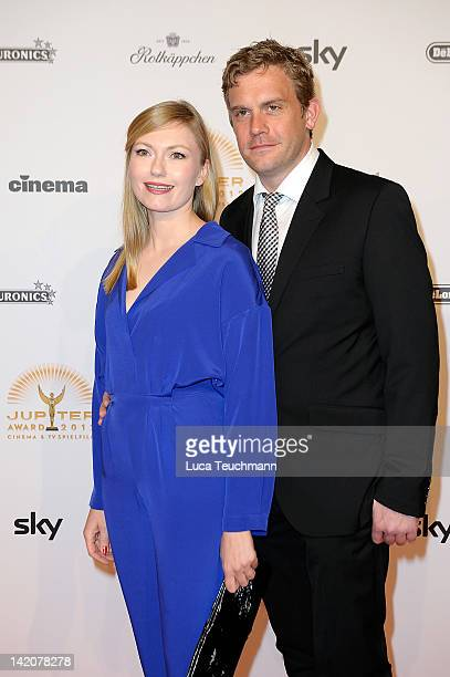 Johanna Christine Gehlen and Sebastian Bezzel attend the Jupiter Award at the Cafe Moskau on March 29 2012 in Berlin Germany