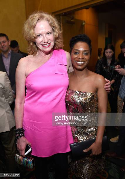 Johanna Day and Michelle Wilson attends the Tony Honors Cocktail Party Presenting The 2017 Tony Honors For Excellence In The Theatre And Honoring The...