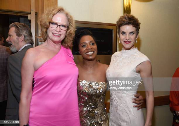 Johanna Day Michelle Wilson and Jenn Colella attends the Tony Honors Cocktail Party Presenting The 2017 Tony Honors For Excellence In The Theatre And...