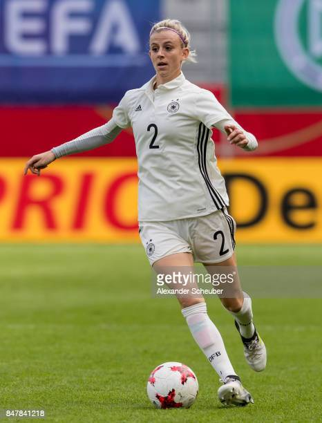 Johanna Elsig of Germany controls the ball during the 2019 FIFA women's World Championship qualifier match between Germany and Slovenia at Audi...