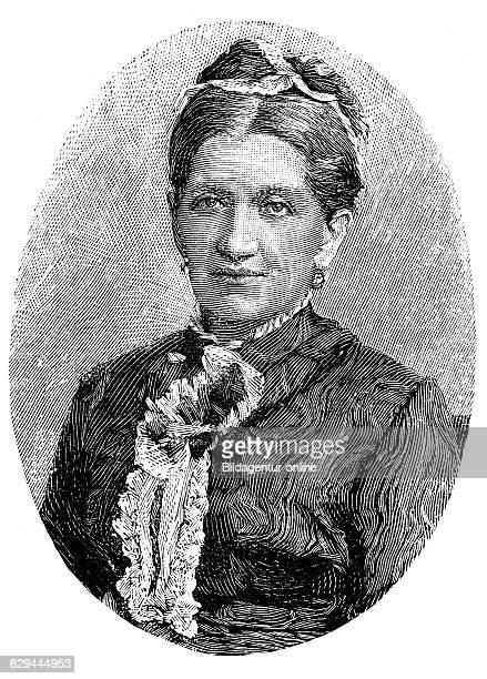 Johanna friederike charlotte dorothea eleonore von bismarck, n?e von puttkamer, 1824 - 1894, wife of otto von bismarck, wood engraving, 1880
