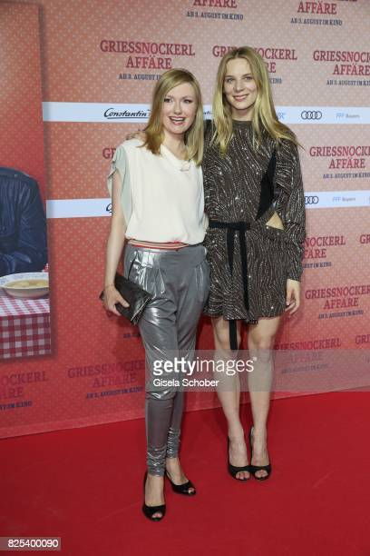 Johanna Gehlen and Lilith Stangenberg during the 'Griessnockerlaffaere' premiere at Mathaeser Filmpalast on August 1 2017 in Munich Germany
