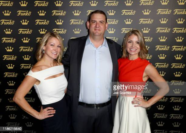 Johanna Gepford Andrew Pearlmutter and Molly Hartney attend the Funko Hollywood VIP Preview Event at Funko Hollywood on November 07 2019 in Hollywood...