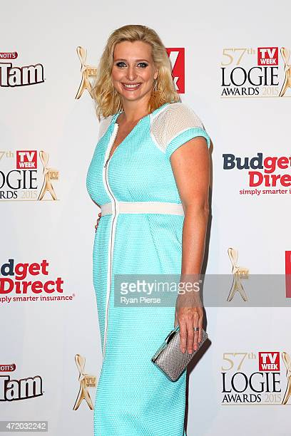 Johanna Griggs arrives at the 57th Annual Logie Awards at Crown Palladium on May 3 2015 in Melbourne Australia