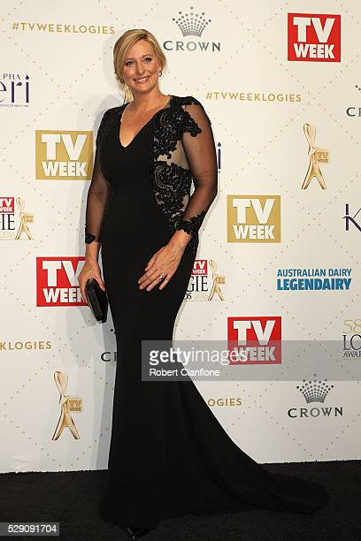 Johanna Griggs arrives at the 58th Annual Logie Awards at Crown Palladium on May 8 2016 in Melbourne Australia