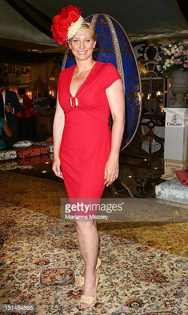 Johanna Griggs at the Emirates marquee during Emirates Stakes Day at Flemington Racecourse on November 5 2011 in Melbourne Australia