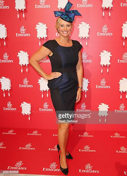 Johanna Griggs at the Emirates Marquee on Oaks Day at Flemington Racecourse on November 6 2014 in Melbourne Australia