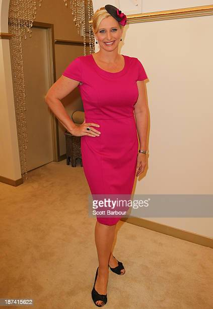 Johanna Griggs attends the Emirates marquee during Stakes Day at Flemington Racecourse on November 9 2013 in Melbourne Australia