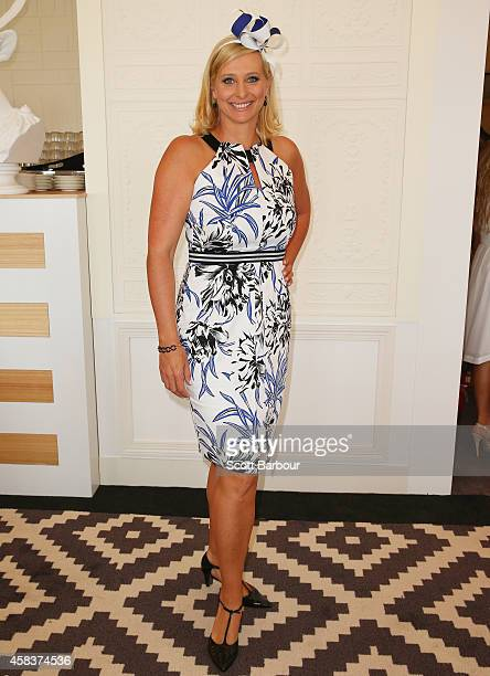 Johanna Griggs attends the Emirates Marquee on Melbourne Cup Day at Flemington Racecourse on November 4 2014 in Melbourne Australia