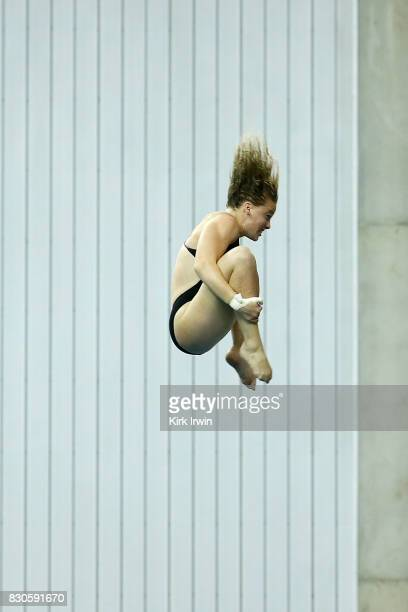 Johanna Holloway of Moss Farms Diving competes during the Senior Women's Platform Final during the 2017 USA Diving Summer National Championships on...