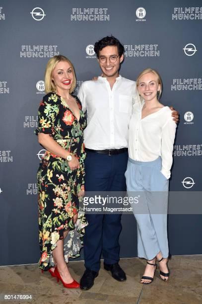 Johanna Ingelfinger , Mehmet Atesci and Elisa Schlott attend 'Das Verschwinden' Premiere during Munich Film Festival 2017 at HFF Muenchen on June 26,...