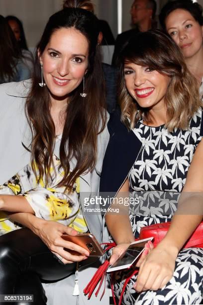 Johanna Klum and Anna Angelina Wolfers attend the Laurel show during the MercedesBenz Fashion Week Berlin Spring/Summer 2018 at Kaufhaus Jandorf on...