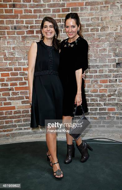 Johanna Klum and Dorothee Schumacher attend the Schumacher show during the MercedesBenz Fashion Week Spring/Summer 2015 at Sankt Elisabeth Kirche on...