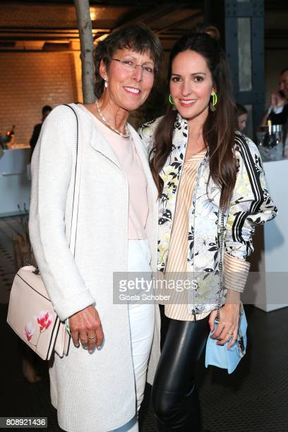 Johanna Klum and her mother Gaby Klum during the Marc Cain Fashion Show after show party Spring/Summer 2018 at ewerk on July 4 2017 in Berlin Germany
