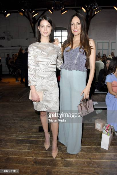 Johanna Klum and LisaMarie Koroll during the Marina Hoermanseder Defile during 'Der Berliner Salon' AW 18/19 at Von Greifswald on January 18 2018 in...