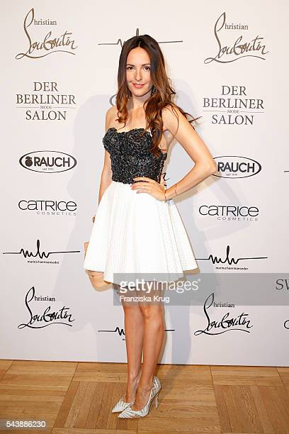 Johanna Klum attends the presentation of the Rauch Happy Day Limited Edition designed by Marina Hoermanseder ahead of the Marina Hoermanseder defilee...