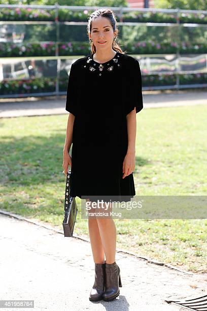 Johanna Klum attends the Schumacher show during the MercedesBenz Fashion Week Spring/Summer 2015 at Sankt Elisabeth Kirche on July 10 2014 in Berlin...