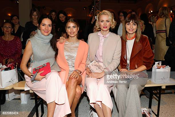 Johanna Klum Cathy Hummels Franziska Knuppe and Eva Padberg attend the Marina Hoermanseder defile during the Der Berliner Mode Salon A/W 2017 at...