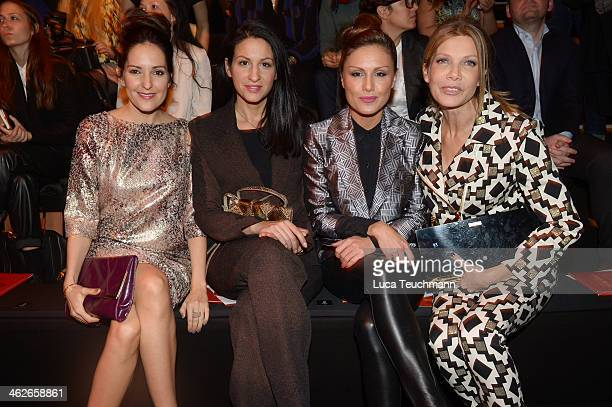 Johanna Klum Minu BaratiFischer Nazan Eckes and Ursula Karven attend the Kilian Kerner show during MercedesBenz Fashion Week Autumn/Winter 2014/15 at...