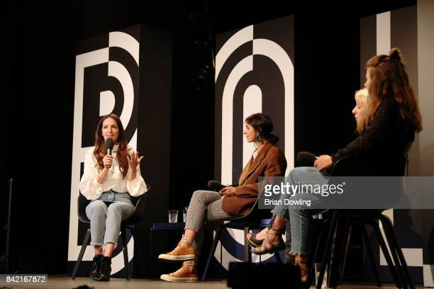 Johanna Klum Nike Van Dinther Liane Mallinger and Jessica Weiss at the talk at the Mint Berry live panel session during the Bread Butter by Zalando...