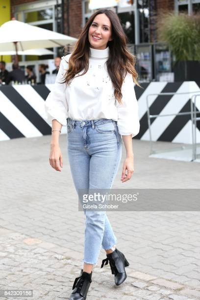 Johanna Klum poses after hosting the Mint Berry live panel session during the Bread Butter by Zalando at Festsaal Kreuzberg on September 3 2017 in...