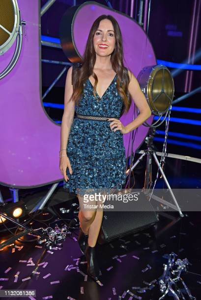 Johanna Klum poses during a photocall after the finals of the KIKA / ZDF television competition 'Dein Song 2019' at MMC Studios on March 22 2019 in...