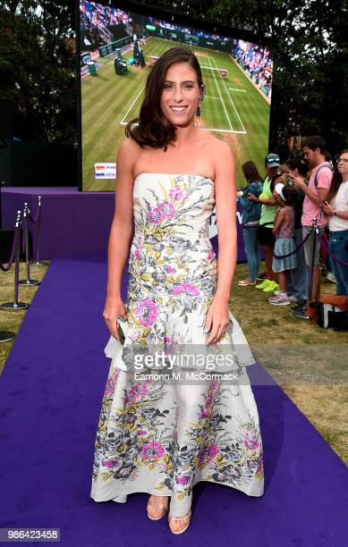 Johanna Konta attends the Women's Tennis Association Tennis on The Thames evening reception at OXO2 on June 28, 2018 in London, England. The event...
