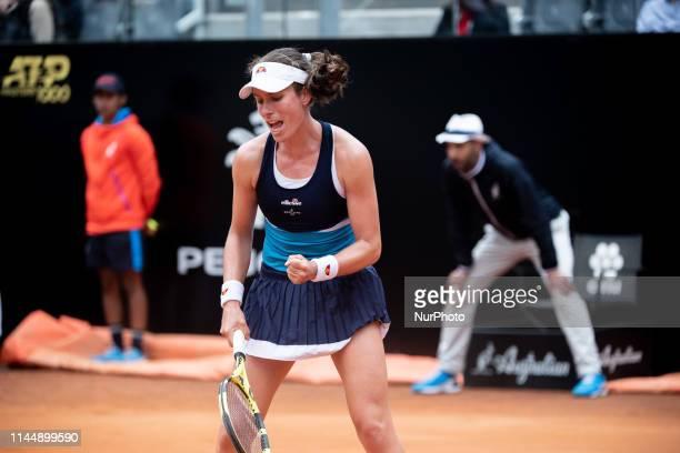 Johanna Konta celebrates in her Women Final match against Karolina Pliskova during Internazionali BNL D'Italia Italian Open at the Foro Italico Rome...
