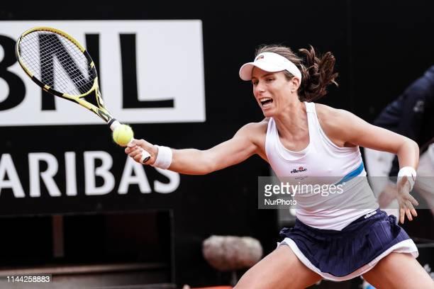Johanna Konta in action against Marketa Vondrousova during the quarter final match at Internazionali BNL D'Italia Italian Open at the Foro Italico...