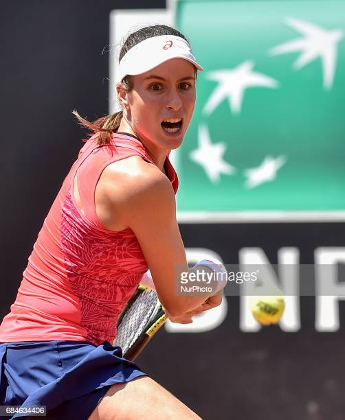 Johanna Konta in action during his match against Venus Williams Internazionali BNL d'Italia 2017 on May 16 2017 in Rome Italy