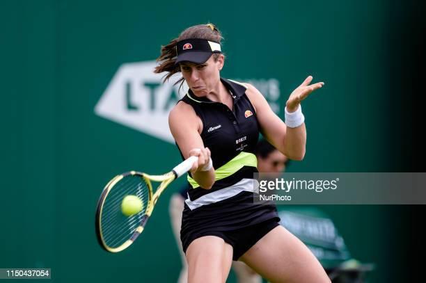 Johanna Konta in the Round of 32 match against Anett Kontaveit during the Nature Valley Classic Tennis Tournament at Edgbaston Priory Club Birmingham...