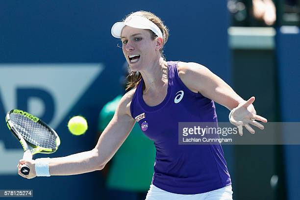 Johanna Konta of Great Britain competes against Julia Boserup of the United States during day three of the Bank of the West Classic at the Stanford...