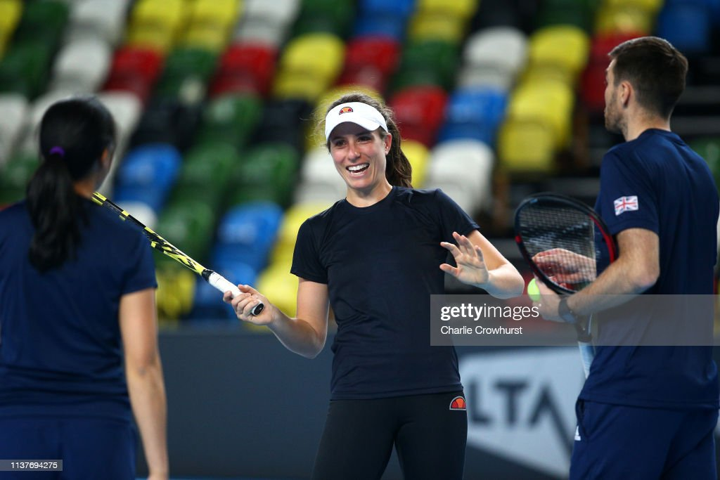 GBR: Great Britain v Kazakhstan - Fed Cup: Preview Day 2