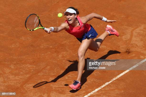 Johanna Konta of Great Britain in action during the women's third round match againstVenus Williams of USA on Day Five of the Internazionali BNL...
