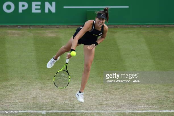 Johanna Konta of Great Britian during Day Six of the Nature Valley open at Nottingham Tennis Centre on June 14 2018 in Nottingham England