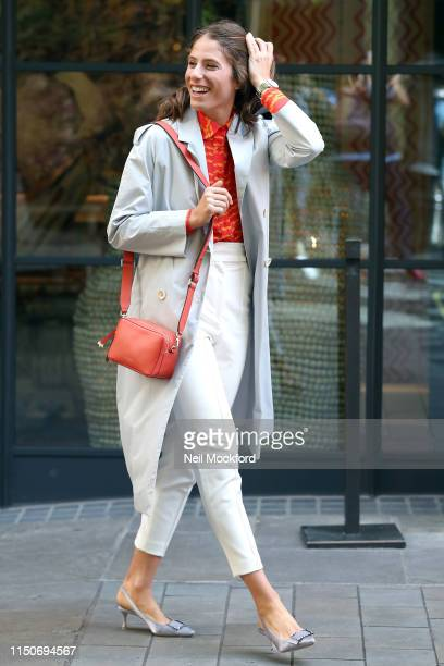 Johanna Konta seen leaving the Ham Yard Hotel with the Radley London Alba Place crossbody bag from the Johanna Konta edit SS19 collection on May 21...