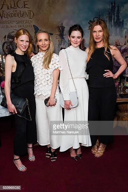 Johanna Kuehl Janin Ullmann Lea van Acken and Alexandra FischerRoehler attend the 'Alice im Wunderland Hinter den Spiegeln' Berlin screening and...