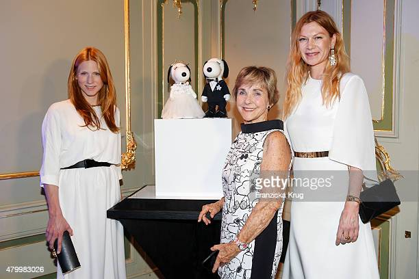 Johanna Kuhl, Jeannie Schulz and Alexandra Fischer-Roehler attend the Snoopy & Belle In Fashion during the Mercedes-Benz Fashion Week Berlin...