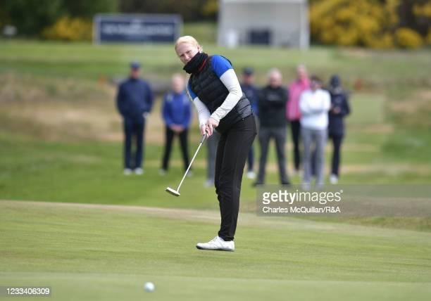 Johanna Lea Ludviksdottir during Day Six of the R&A Womens Amateur Championship at Kilmarnock Golf Club on June 12, 2021 in Kilmarnock, Scotland.