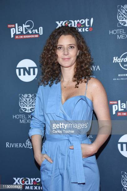 Johanna Murillo poses for photos during the red carpet for the shortlist presentation of the Premios Platino at Cineteca Nacional on February 18 2019...