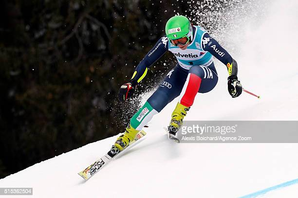 Johanna Schnarf of Italy competes during the Audi FIS Alpine Ski World Cup Women's Super Combined on March 13 2016 in Lenzerheide Switzerland