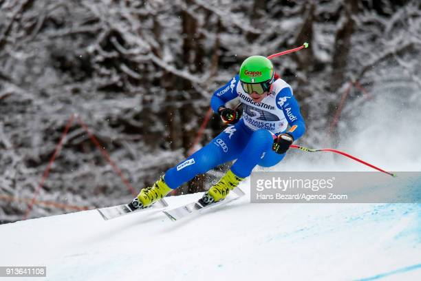 Johanna Schnarf of Italy competes during the Audi FIS Alpine Ski World Cup Women's Downhill on February 3 2018 in GarmischPartenkirchen Germany